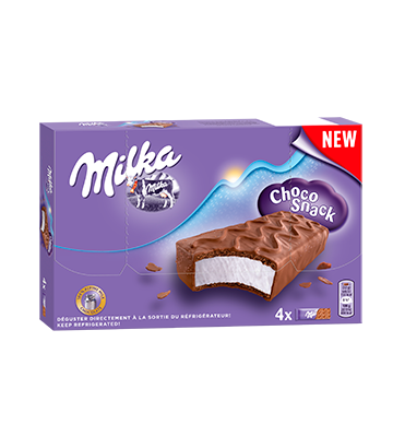 Gekühlte Milka-Schnitte